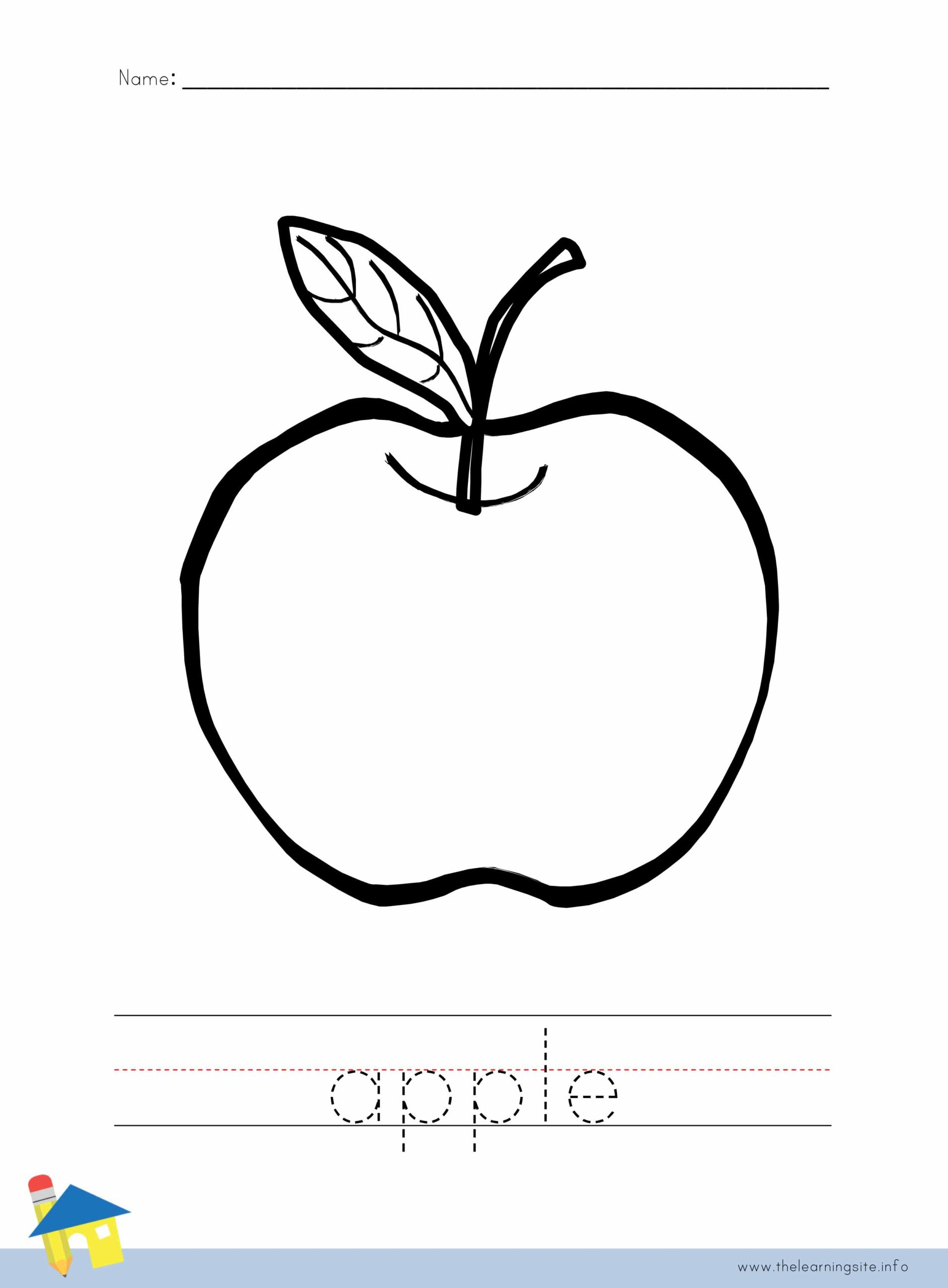 Apple Coloring Worksheet The Learning Site