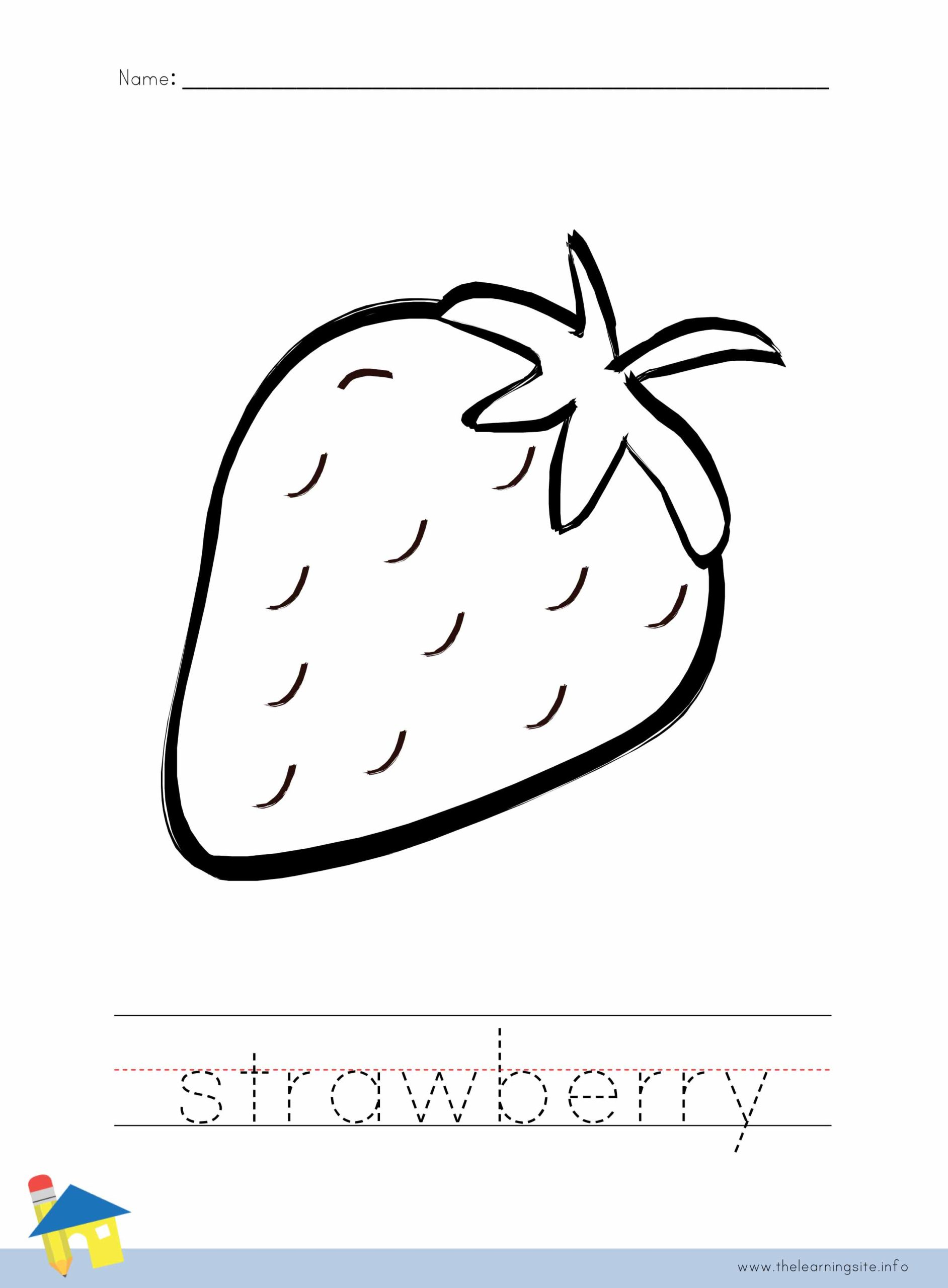 Strawberry Coloring Worksheet The Learning Site