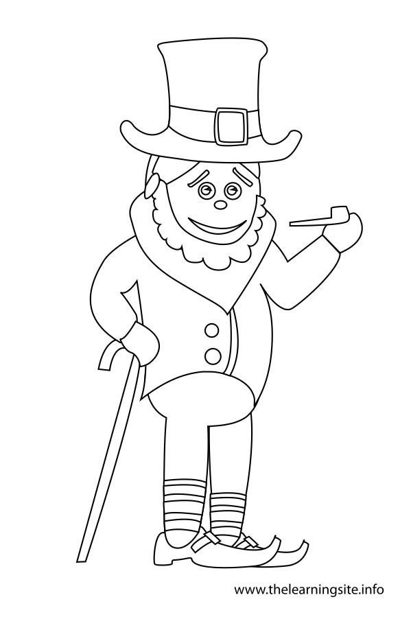 Boy in Leprechaun Costume Flashcard