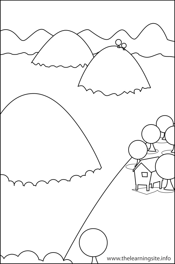 Mountain Landform Coloring Pages Coloring Pages