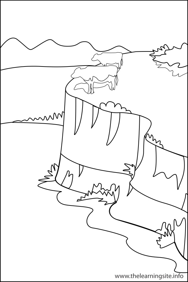 Land And Water Forms Coloring Sheet Coloring Pages