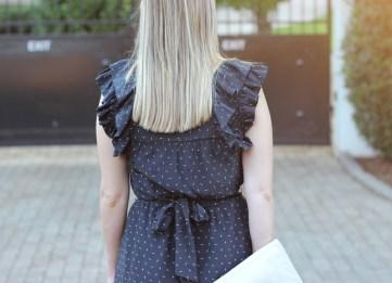 Dress with ruffles