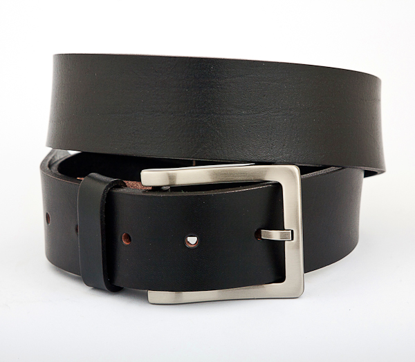 40cm Black Leather Nickel Plated Buckle