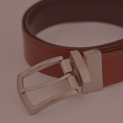 3.5cm reversible leather belt