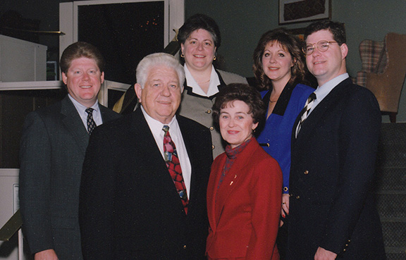 The McKinzie family will be honored Nov. 8 at Savior Pastoral Center with the Deo Gratias Award, the highest award given by the Catholic Foundation of Northeast Kansas for excellence in planned giving. They are, from left, Mark McKinzie, Leonard McKinzie, Linda McKinzie, Ellen McKinzie, Carol Kuhlmann, and Paul McKinzie.