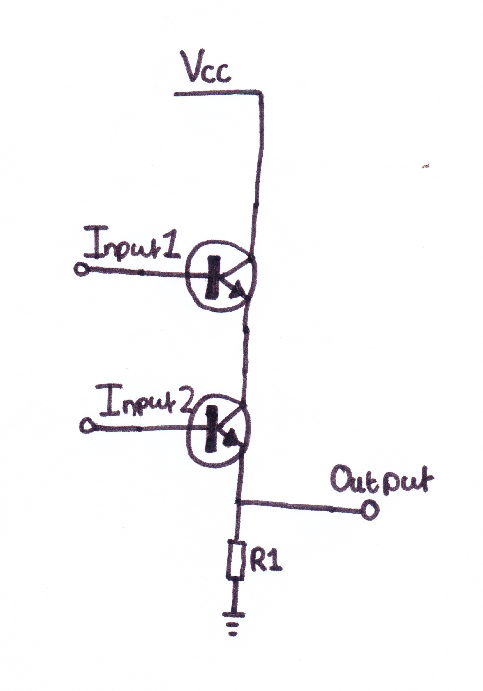 AND GATE USING A TRANSISTOR