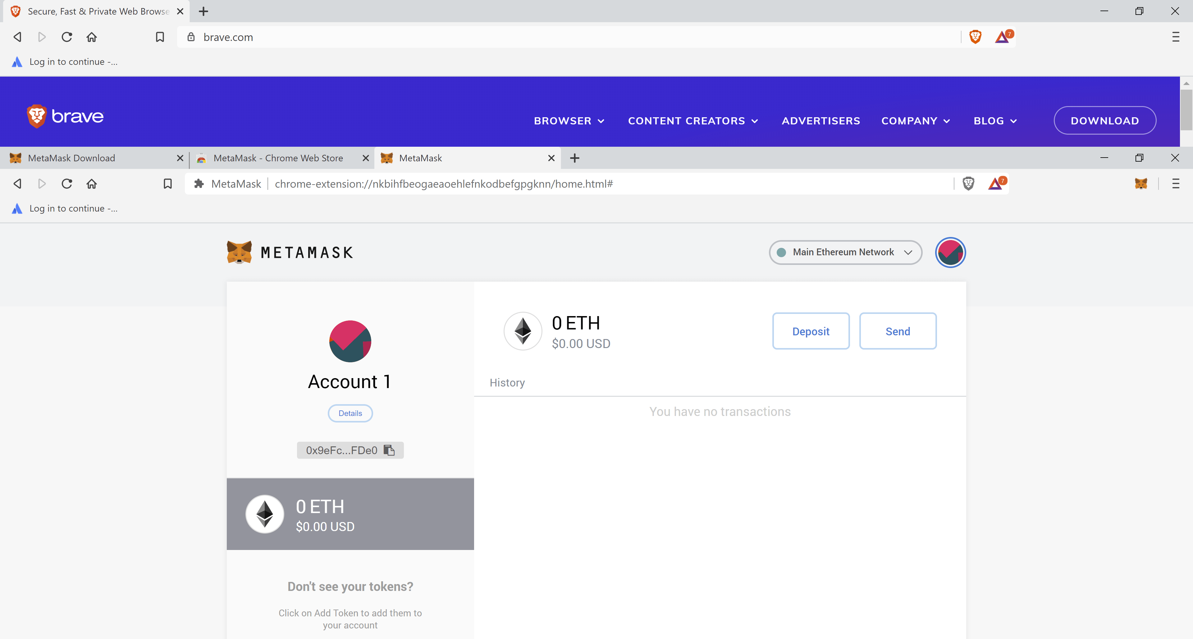 homepage metamask seed ready