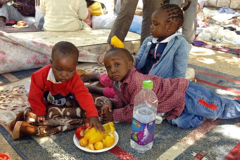 הפגנת פליטים מדארפור
