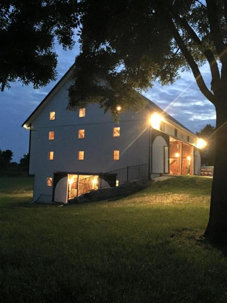 The side of the barn
