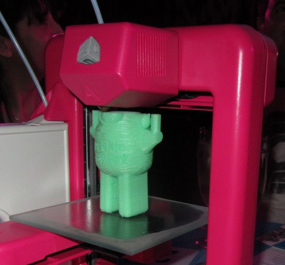 3D Printers were the table decorations at The Geekie Awards.