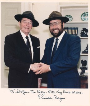 Shotz and President Reagan