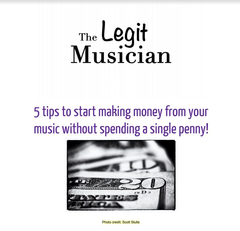 FREE eBook about making money from your music