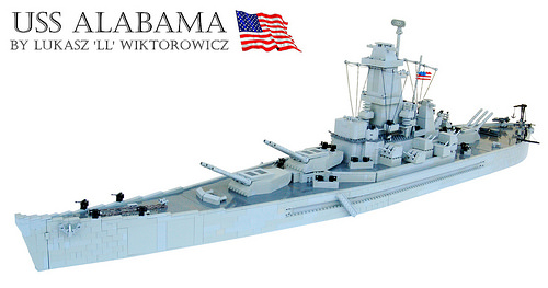 Lego USS Alabama