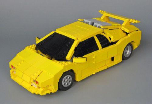 Lego Sunstreaker Transformer