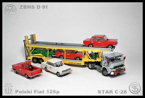 Lego Car Transporter, Polski-Fiat
