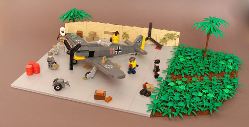Lego Oasis Airfield FW190