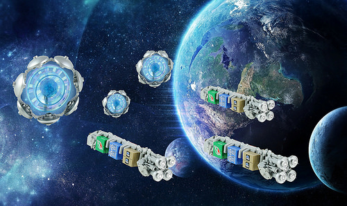 Lego Space Freighters