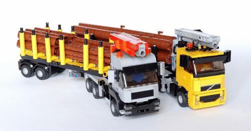 Lego MAN Volvo Town Trucks