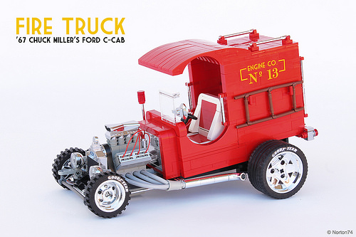 Lego Fire Truck Hot Rod '67 Chuck Miller's Ford C-cab