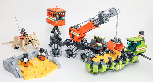 Lego Moon Cheese Mining