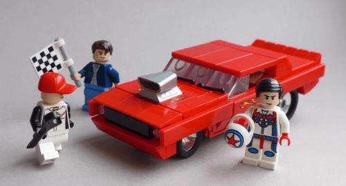 Lego Plymouth Cuda Drag Car