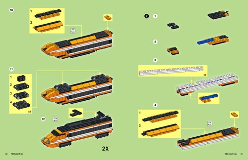 Lego TGV Train Instructions
