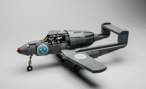 Lego Saab 21R Aircraft