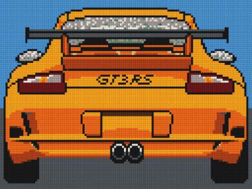Lego Porsche 911 GT3 Mosaic