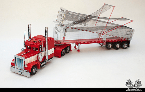 Lego Peterbilt 379 & MAC End Dump