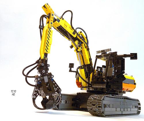 Lego Technic Excavator Grabber