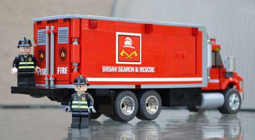 Lego Fire Logistics Truck