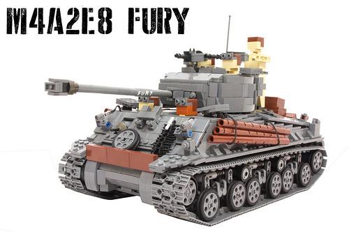 Lego M4A2E8 Sherman Tank Fury