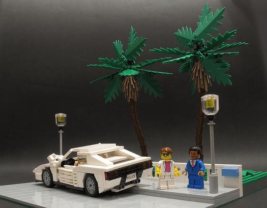 Lego Ferrari Testarossa Miami Vice