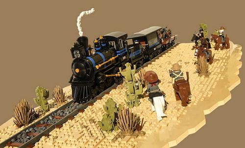 Lego Western Train Robbery