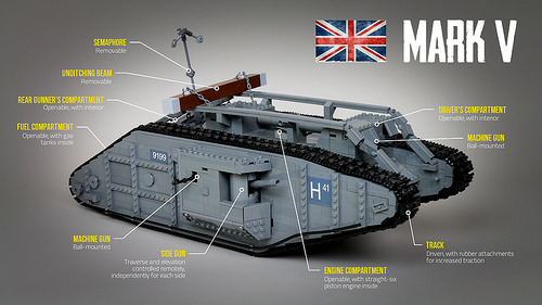 Lego Remote Control Mark V Tank
