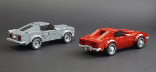 Lego Ford Mustang & Chevrolet Corvette