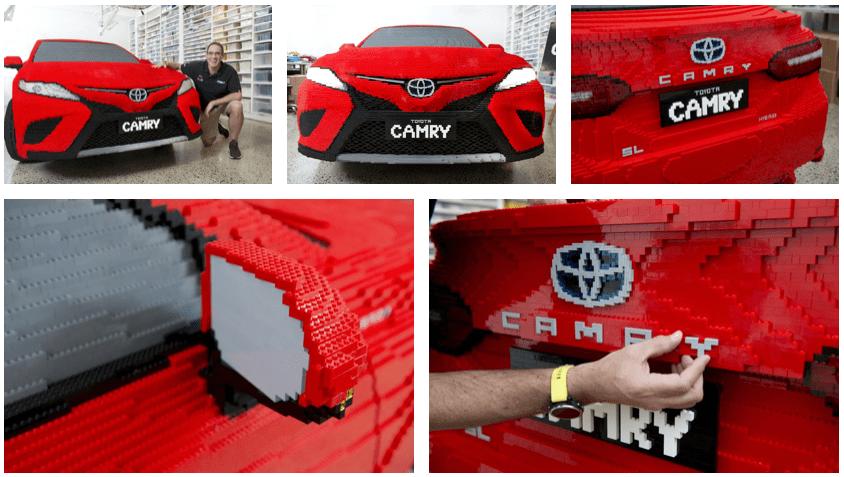 Life-Size Lego Toyota Camry 2018