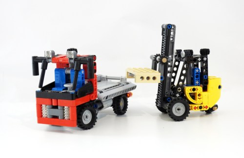 Lego Technic Forklift and Truck