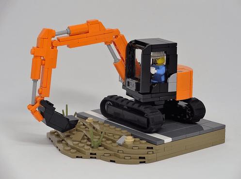 Lego Hitachi ZX75US-5B Excavator