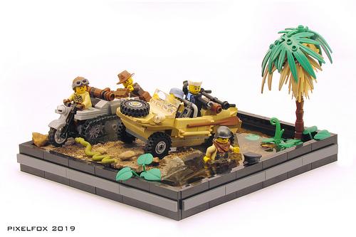 Lego Schwimmwagen SdKfz 2 Kettenkrad
