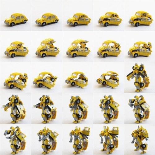 Lego Transformers Bumblebee VW Beetle