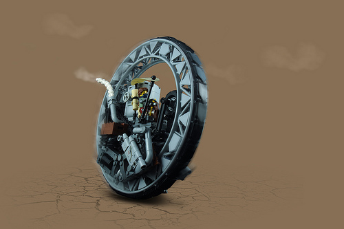 Lego Monocycle