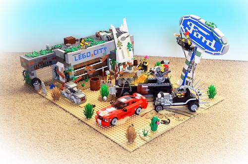 Lego Post-Apoc Ford Dealership