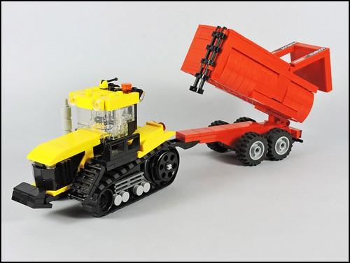 INSTRUCTIONS ONLY Custom Lego Caterpillar Crawler Tractor Town City Farm Truck A