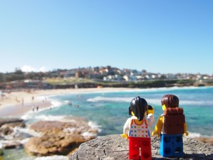 Watching the swimmers and surfers