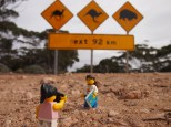 One of the famous Nullabor roadtrip signs