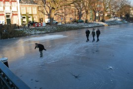 Skate race on the Witte Singel - Saleem.
