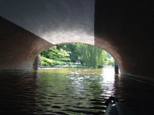The tunnel below the Breestraat, heading to Kammerlingh Onnes Gebouw.