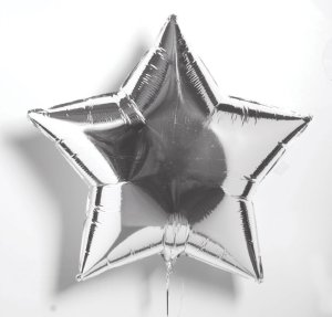 Fancy mylar foil star-balloon to fit with the theme.