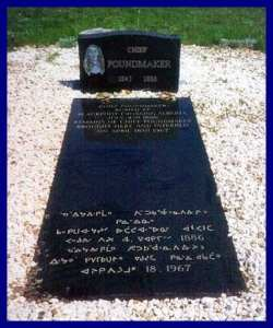 Grave site of Chief Poundmaker